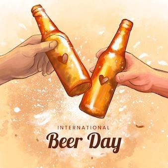 Akwarela międzynarodowy dzień piwa