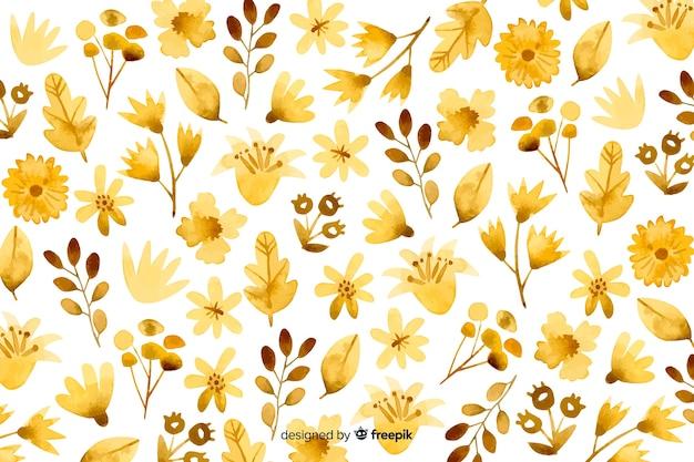 Akwarela monochromatyczne tle kwiatów