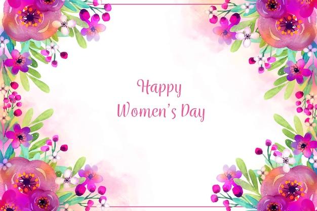Akwarela motyw na dzień kobiet