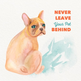 Akwarela nigdy nie pozostawia swojego zwierzaka za sobą
