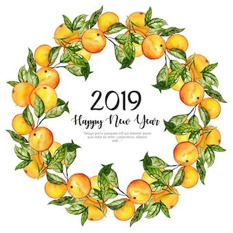 Akwarela nowego roku tło