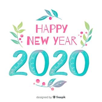 Akwarela nowy rok 2020