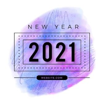 Akwarela nowy rok 2021