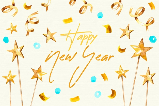 Akwarela nowy rok tło