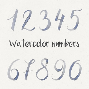 Akwarela numery kolekcji