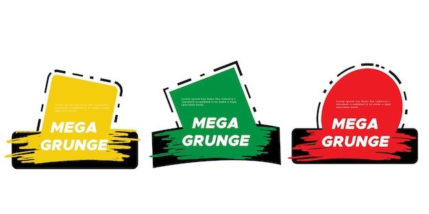 Akwarela odznaki grunge