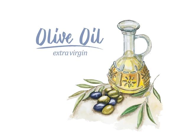 Akwarela oliwa z oliwek
