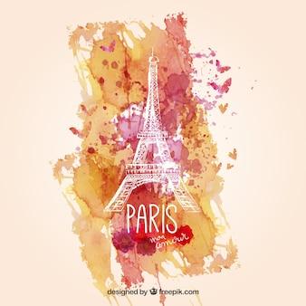 Akwarela Paryż