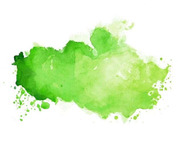 Akwarela plama tekstury w odcieniu koloru zielonego