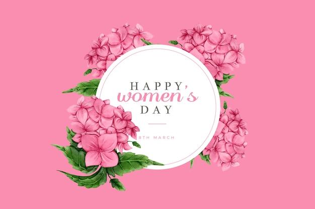 Akwarela pozdrowienia dzień kobiet