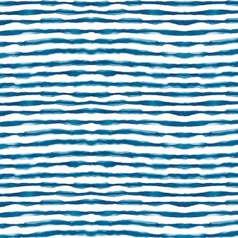 Akwarela poziome linie wzór shibori