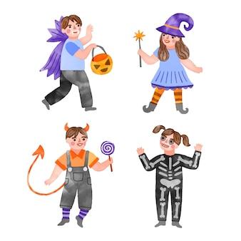 Akwarela projekt halloween kolekcja dla dzieci