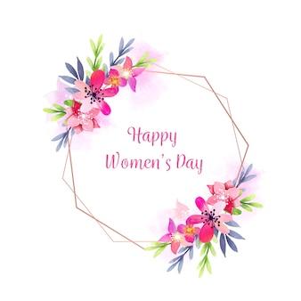 Akwarela projekt na dzień kobiet