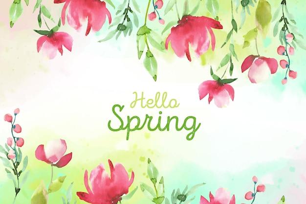 Akwarela projekt wiosna koncepcja