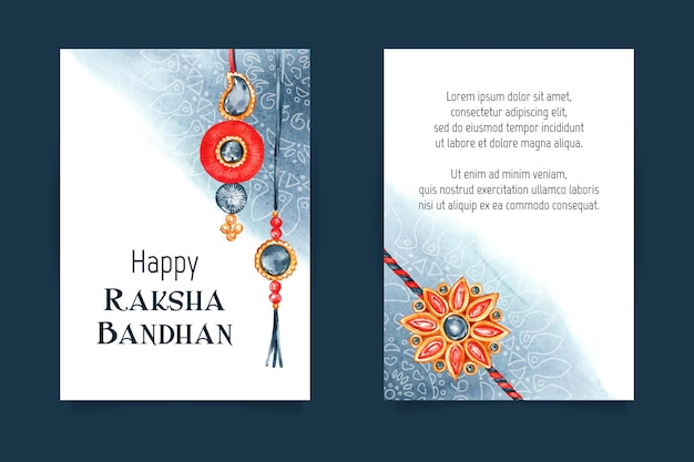 Akwarela raksha bandhan kartkę z życzeniami