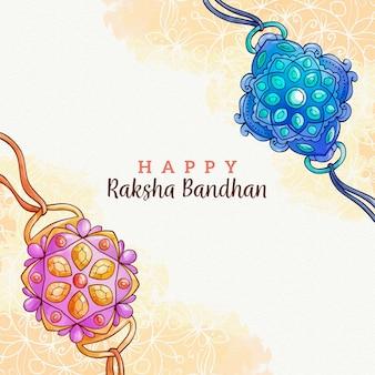 Akwarela raksha bandhan koncepcja
