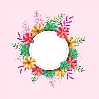 Akwarela rama kwiatowy
