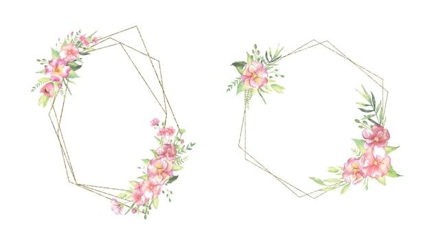 Akwarela ramki kwiatowe