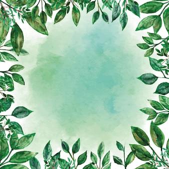 Akwarela ramki zieleni