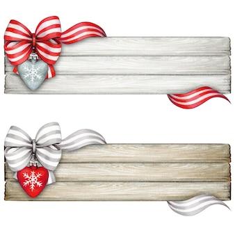 Akwarela ręcznie rysowana dekoracja bpw na odrapanym drewnianym znaku
