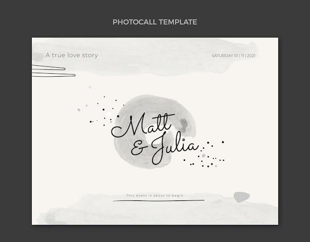 Akwarela ręcznie rysowane fotorozmowa ślubna
