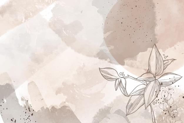 Akwarela ręcznie rysowane kwiaty w tle