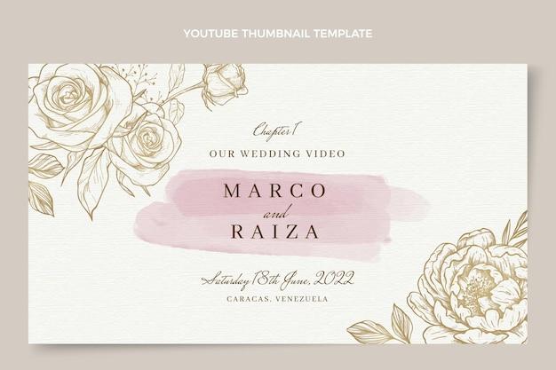 Akwarela ręcznie rysowane miniatura ślubna youtube