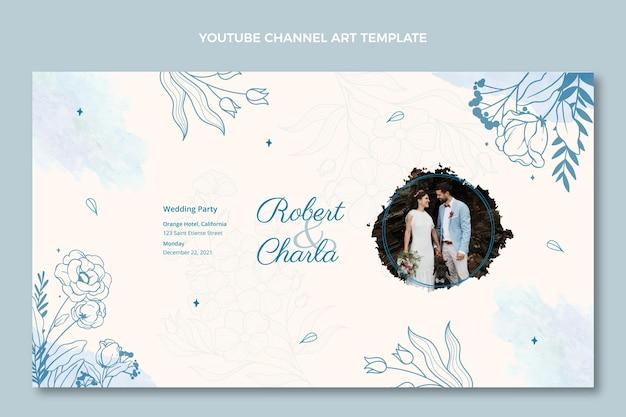 Akwarela ręcznie rysowane ślubna sztuka kanału youtube