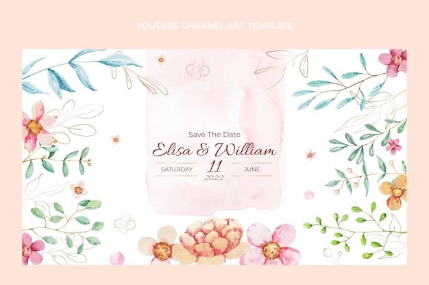 Akwarela Ręcznie Rysowane ślubna Sztuka Kanału Youtube Darmowych Wektorów