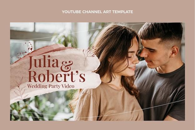 Akwarela ręcznie rysowane ślubny kanał youtube