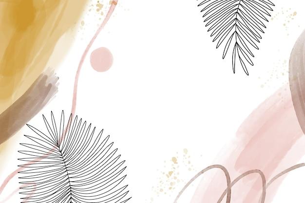 Akwarela ręcznie rysowane tła z liśćmi