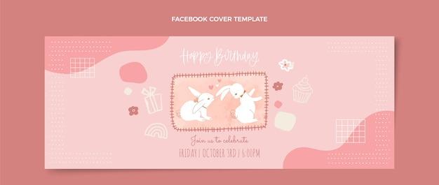 Akwarela ręcznie rysowane urodziny facebook okładka