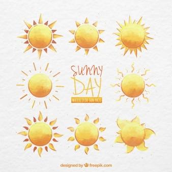 Akwarela słoneczny dzień