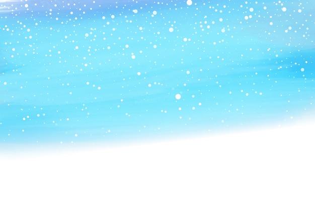 Akwarela śnieżny tło