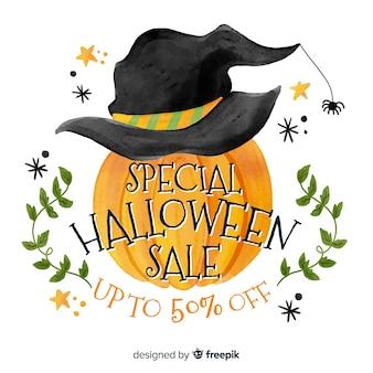 Akwarela sprzedaż halloween z dyni