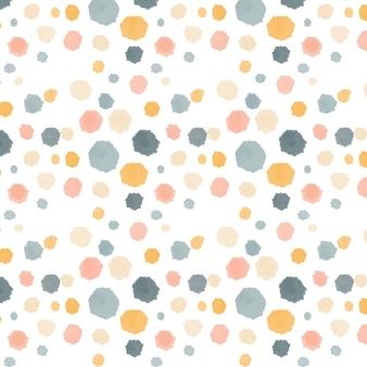 Akwarela streszczenie okrągłe plamy wzór