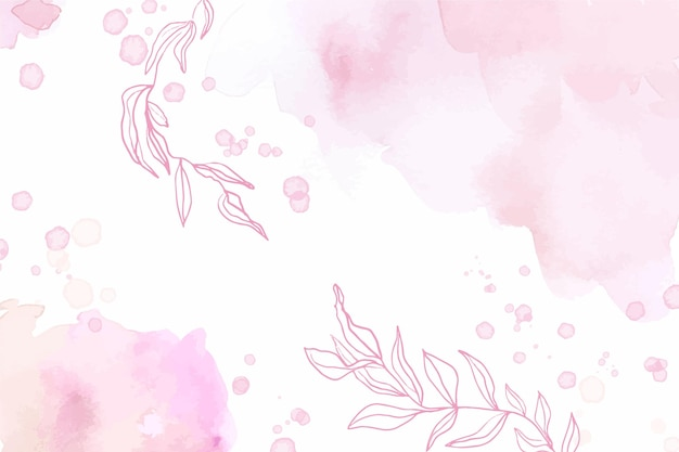 Akwarela streszczenie różowe tło