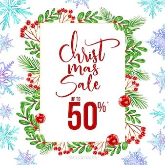 Akwarela świąteczna koncepcja sprzedaży
