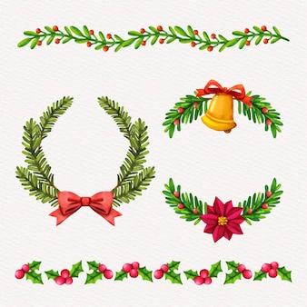 Akwarela świąteczne ramki i obramowania