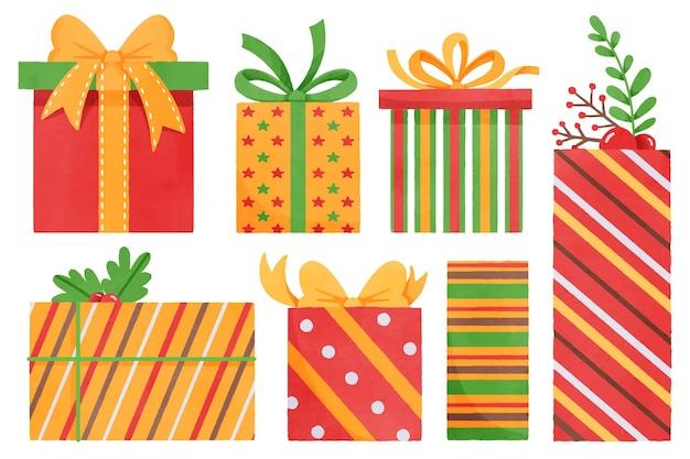 Akwarela świąteczny zestaw prezentowy