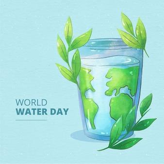 Akwarela światowego dnia wody