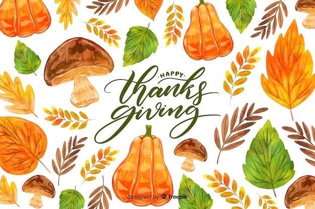 Akwarela święto dziękczynienia tła