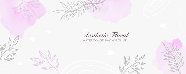 Akwarela szeroki baner okładka lub reklama strony internetowej. akwarela rozpryski streszczenie różowy pastel błyszczący szeroki pionowy wektor szablon tło. do urody, ślubu, makijażu, biżuterii. romantyczna kobieca