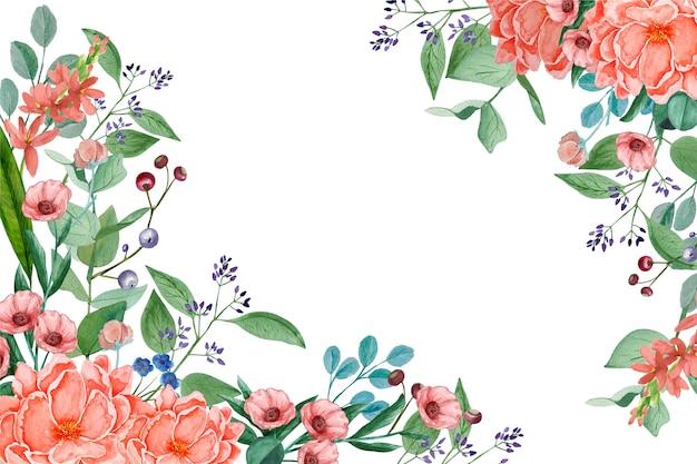 Akwarela tapetą z motywem kwiatowym w pastelowych kolorach