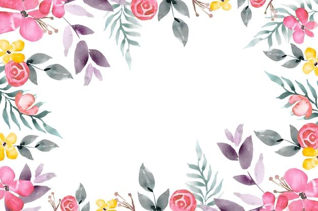 Akwarela tapetą z motywem kwiatowym