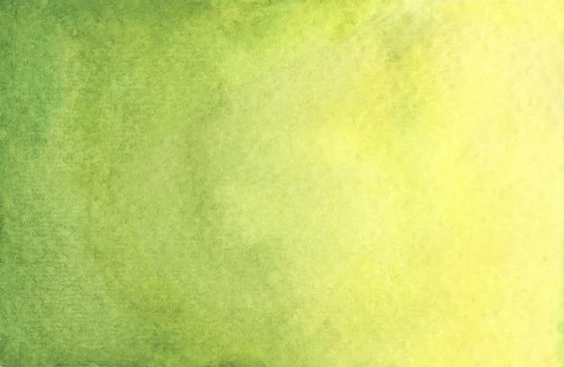 Akwarela tekstura tło zielony i żółty.