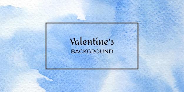 Akwarela tekstury niebieski valentine