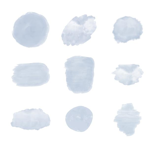 Akwarela tekstury obrysu pędzla niebieski.