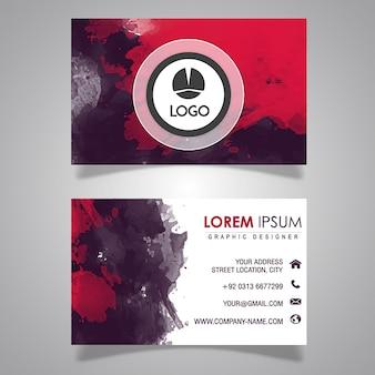 Akwarela tekstury visting card