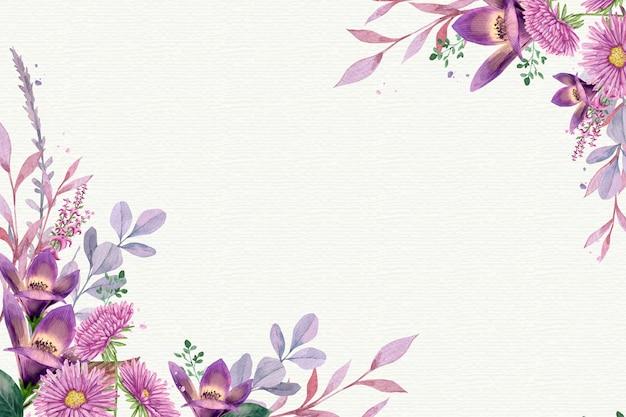 Akwarela tle kwiatów w pastelowych kolorach